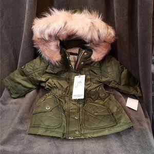 Urban Republic Girls 12 mo Faux Fur Trim Jacket